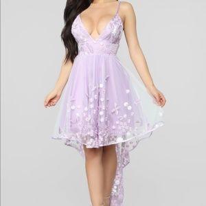 I Feel Pretty Hi-Low Dress in Lavender, XS